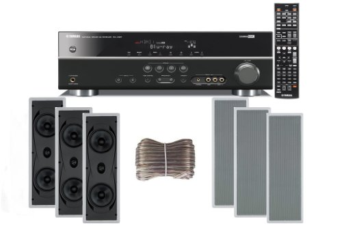 Yamaha 3D-Ready 5.1-Channel 500 Watts Digital Home Theater Audio/Video Receiver With 1080P-Compatible Hdmi Repeater & Upgraded Cinema Dsp With A Usb Digital Input And Connecting Cable To Play & Charge Your Ipod Or Iphone & Control Remotely + Yamaha Custom
