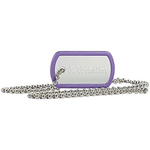 Verbatim 16GB Dog Tag USB Flash Drive Violet 98672