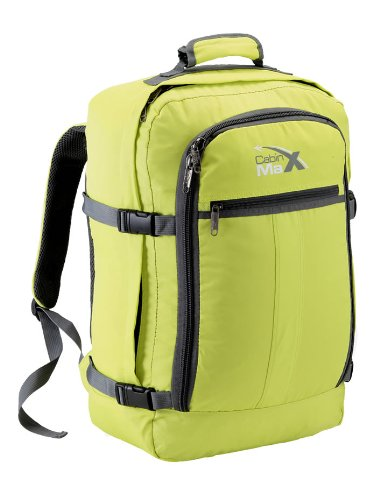 Cabin Max Backpack Flight Approved Carry On Bag Massive 44 litre Travel Hand Luggage 55x40x20 cm - Metz Green