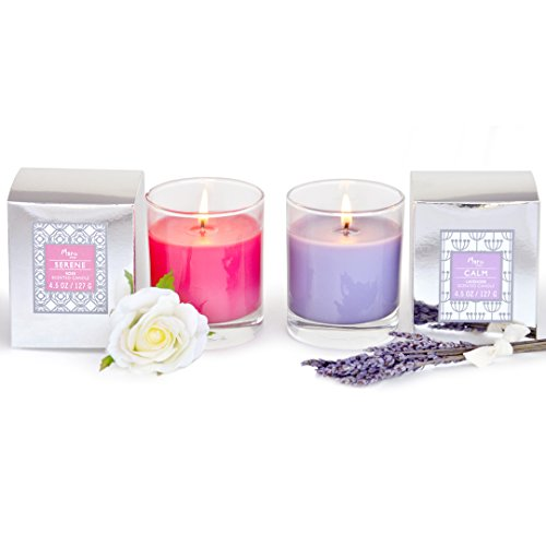 Manu home scented relaxation aromatherapy spa candles set for Spa smelling candles