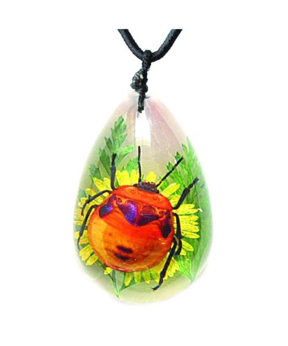 WeGlow International 43INS30 Large Insect Flower Bug and Flower Necklace
