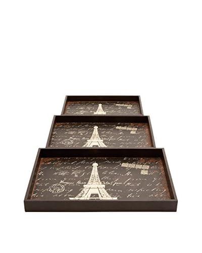 Set Of 3 Wood Trays