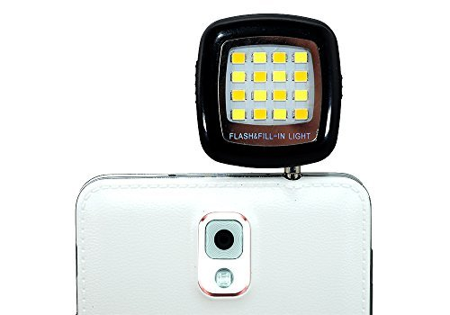 QUMOX NUOVO mini 3.5mm Portable 16 LED Selfie Flash Fill Flash Black Light
