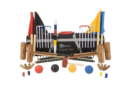 Uber Games Pro Croquet set UG110 with Canvas Tool Kit Bag