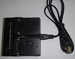 Dual Channel Battery Charger for Panasonic VW-VBG6-K VW-VBG6GK VW-AD20-K VW-AD20PP-K CGA-E625
