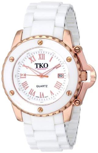 TKO ORLOGI Women's TK575-WT Genuine Ceramic White Dial Watch