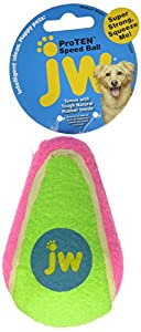 JW Pet Company 42201 Proten Speed Ball for Pets, Medium, Assorted Colors (Green/Pink or Green/Blue)