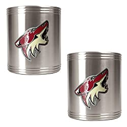 Phoenix Coyotes NHL 2pc Stainless Steel Can Holder Set- Primary Logo