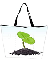 Snoogg Spring Sprout Vector Waterproof Bag Made Of High Strength Nylon