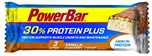 Powerbar Protein Plus Bar 30% Vanille Caramel-Crisp, 15 x 55 g, 1er Pack (1 x 800 g Packung) from Powerbar