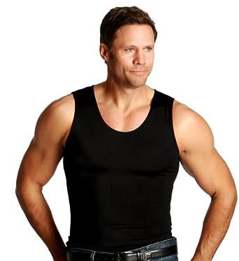 Insta Slim Muscle Tank Shirt - Black - Medium