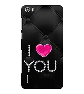 EPICCASE diamond love Mobile Back Case Cover For Huawei Honor 6 Plus (Designer Case)