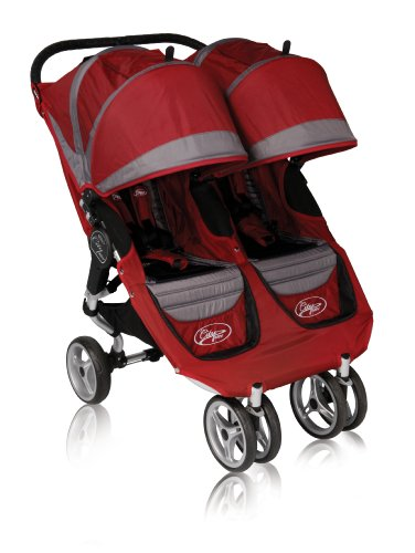 Baby Jogger 2010 City Mini Double Stroller, Crimson/Gray