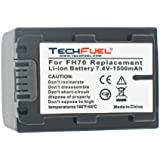 Sony NP-FH60 Camcorder Battery - Premium TechFuel® NP-FH70 Extended Capacity Battery