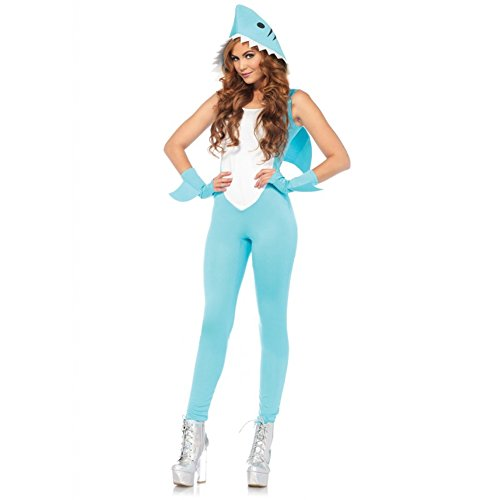 [Left Shark Sexy Women's Costume Bodysuit for Halloween or Costume Parties Small] (Dory And Nemo Costumes)