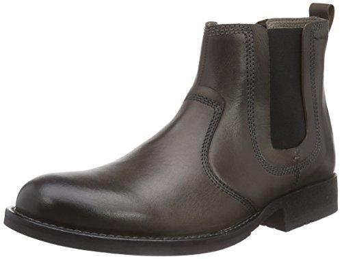 Marc ShoesJoe - Stivaletti a gamba corta mod. Chelsea, imbottitura leggera uomo , Grigio (Grau (asphalt 120)), 44