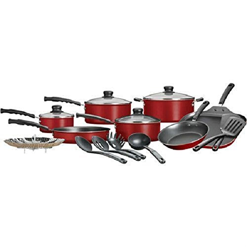 Cookware Sets Pots and Pans ,Kitchen Cookware Set Non Stick 18 Pieces (Red Pans And Pots compare prices)