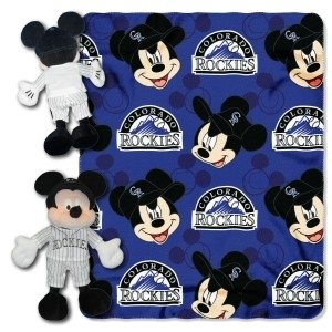 Colorado Rockies Disney Hugger Blanket by Hall of Fame Memorabilia
