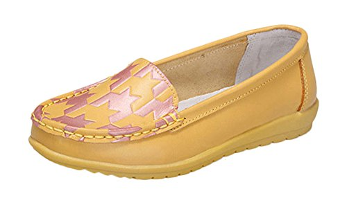 fq-real-new-leather-color-singles-casual-low-flat-shoes-yellow-size-6-uk