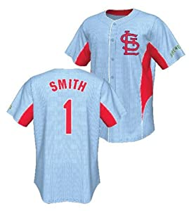St. Louis Cardinals Ozzie Smith Majestic MLB Cooperstown Leader Jersey by Majestic
