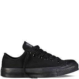 Converse Unisex Chuck Taylor All Star Ox Low Top SneakersBlack Monochrome 9 B(M) US / 7 D(M) US
