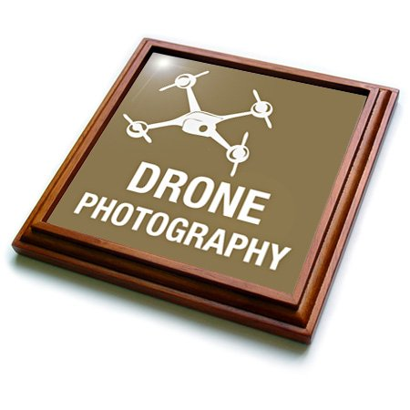 Trv_179893_1 Kike Calvo Drone And Unmanned Vehicle Collection - Brown Drone For Photography - Trivets - 8X8 Trivet With 6X6 Ceramic Tile
