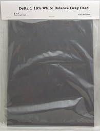 CPM Delta 1 8 inch x 10 inch Gray Card