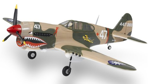 2.4G Extreme Detail 5-Channel AirField RC P-40 WarHawk 1400MM Radio Control Warbird Plane w/ Brushless Motor/ESC/Lipo 100% RTF *Super Scale* EPO Foam Plane + Electric Retract (Tiger) - COLOR MAY BE GREEn/BROWN OR CAMO SENT AT RANDOM