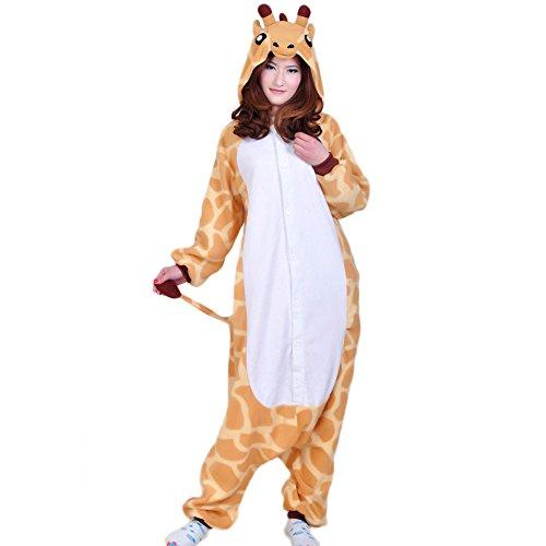 NINI.LADY Unisex Sleepsuit Pajamas Cosplay Costume Adult Sleepwear Giraffe XL (Chopper Pajamas compare prices)