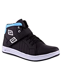 Red Rose Black And Blue Casual Shoes