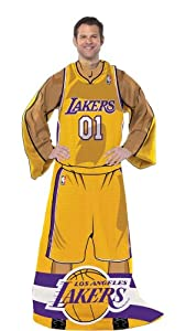 NBA Los Angeles Lakers Unisex Player Comfy Throw - Gold by Northwest Enterprises