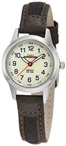 Timex Women's T41181 Expedition Metal Field Brown Leather and Nylon Strap Watch