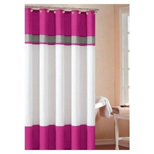 """Amazon.com - DreamHome - """"Monte Carlo"""" Shower Curtain, Fuchsia/Gray -"""