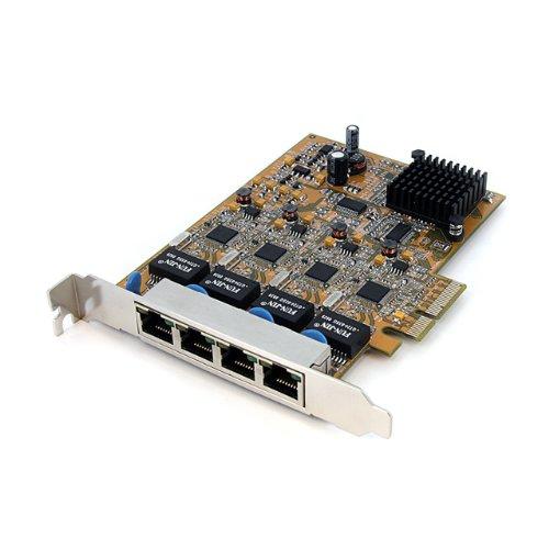 StarTech.com 4 Port PCI Express Gigabit Ethernet NIC Network Adapter Card (ST1000SPEX4) Black Friday & Cyber Monday 2014