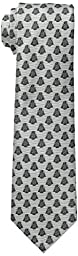 Star Wars Men\'s Darth Vader All Over Tie, White, One Size
