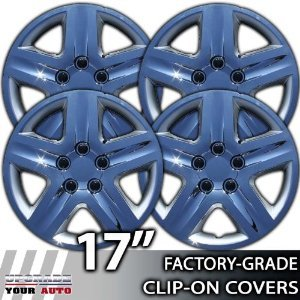 2006-2008 Chevy Impala 17 Inch Chrome Clip-On Hubcap Covers