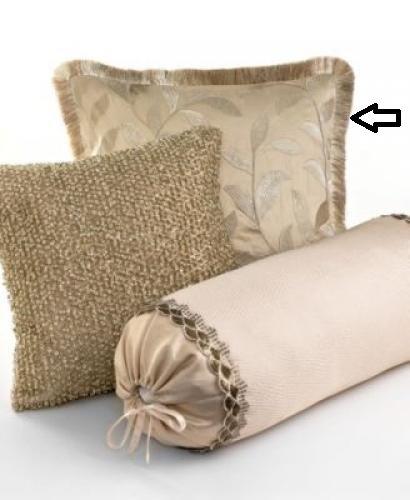 Martha Stewart Petal Drift Decorative Pillow Square Metallic front-1018851