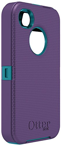 OtterBox Defender Series Case and Holster for iPhone 4 & 4S [Non-Retail Packaging] (Purple/Blue) image