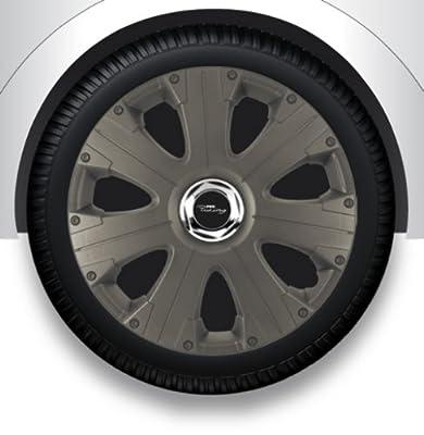 """13"""" Zoll Radzierblenden/Radkappen/Radabdeckung mit Tasche GRAU ABS #13 von ZX auf Reifen Onlineshop"""