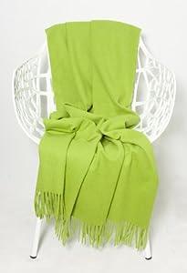 alpaca wool throw blanket plaid green 51inch x 70inch 130cm x180cm lime green. Black Bedroom Furniture Sets. Home Design Ideas