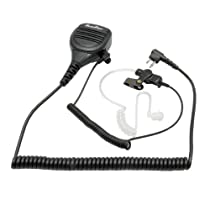 Maximal Power Two Way Palm Speaker Mic for Motorola HMN9030 Fits Motorola GP300 CP200 CP200 XLS PR400 EP450 GTX GP300 P1225 CP185 P110 SP50 with Coil Cord Surveillance Earpiece