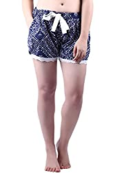 Vixenwrap Blue Printed Shorts(XL_Blue)