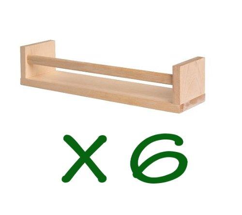 Ikea 6 estante de madera especias nursery book kids - Estanteria para especias ikea ...