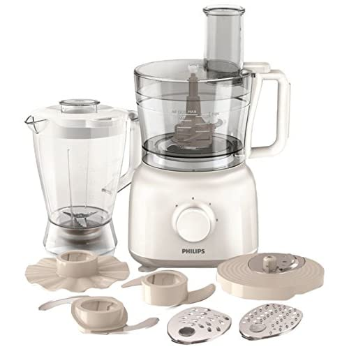 Philips HR7628 01 PowerChop Daily Collection Food Processor with Blending Jug, 650 W - White