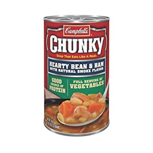 Campbell's Chunky Soup, Hearty Bean & Ham with Natural