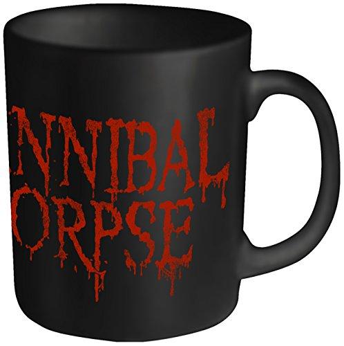 Plastic Head - Tazza con logo Cannibal Corpse, scritta effetto gocciolante, colore: Nero