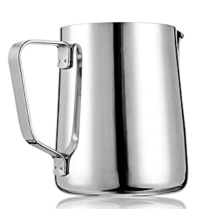 Frothing Pitcher, X-Chef Stainless Steel Milk Pitcher Latte Art Jug 10 OZ Christmas Gift by X-Chef