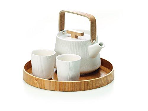 "Tee-Set ""Malwina"" Porzellan, 3-teilig Tasse 0,2 l Kanne 1,1 l"