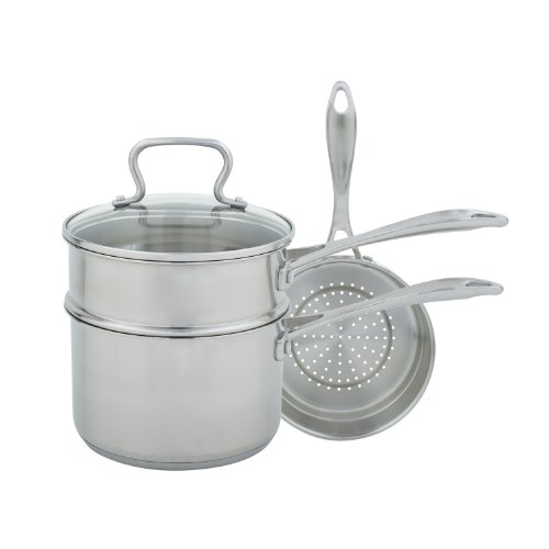 Range Kleen Cw7100 Stainless Steel Multi Sauce Pan, 3-Quart