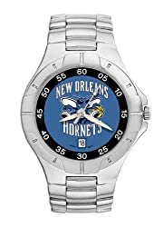 New Orleans Hornets Mens Pro Ii Sterling Silver Bracelet Watch